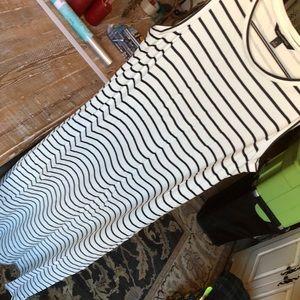 Banana republic sleeveless striped dress